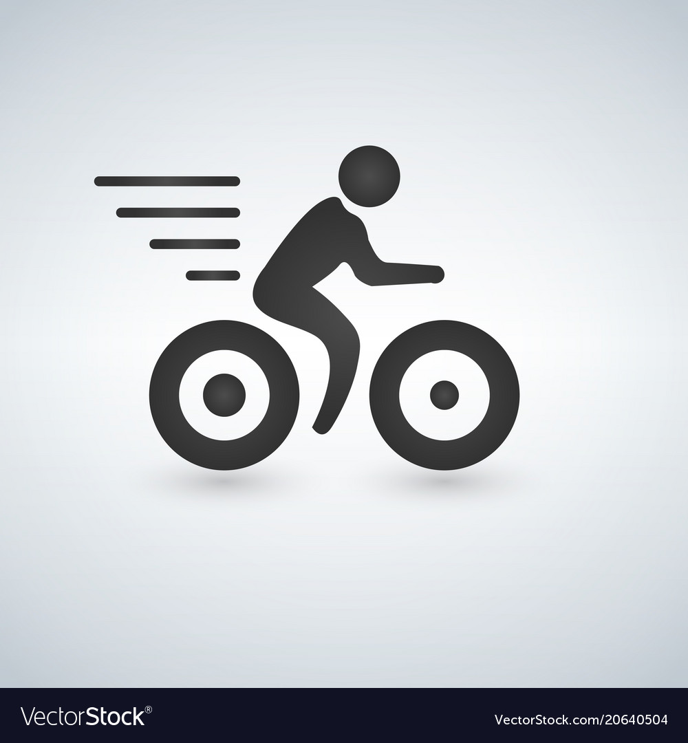 Bicycle sign icon isolated on white background
