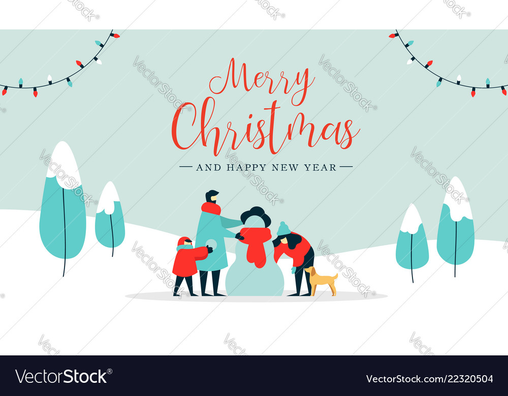 Christmas and happy new year family wintertime