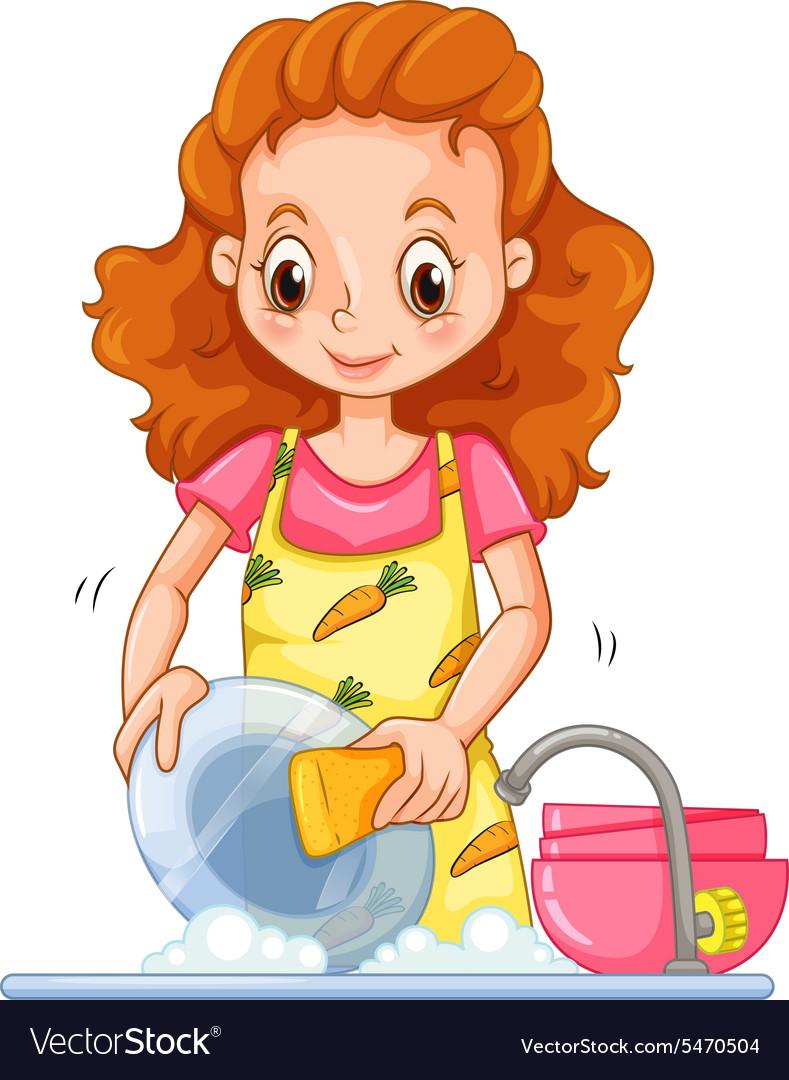 Картинки девочка моет посуду для детского сада