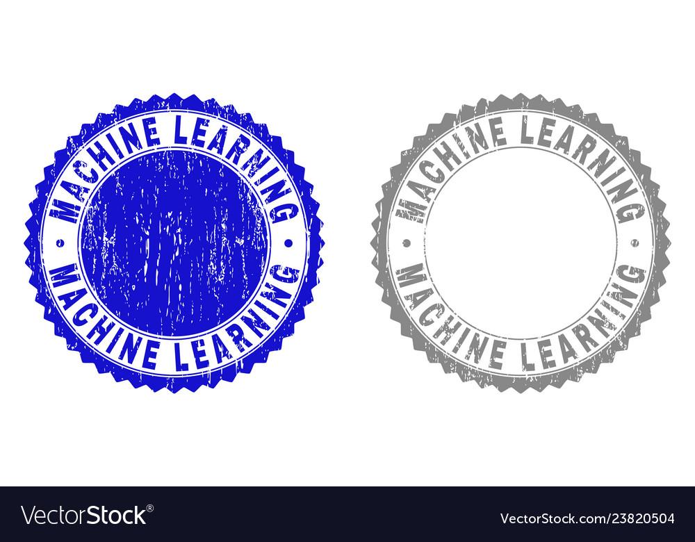 Grunge machine learning textured stamp seals