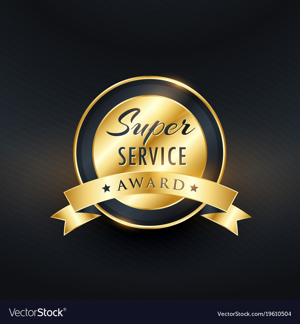 Service award label design
