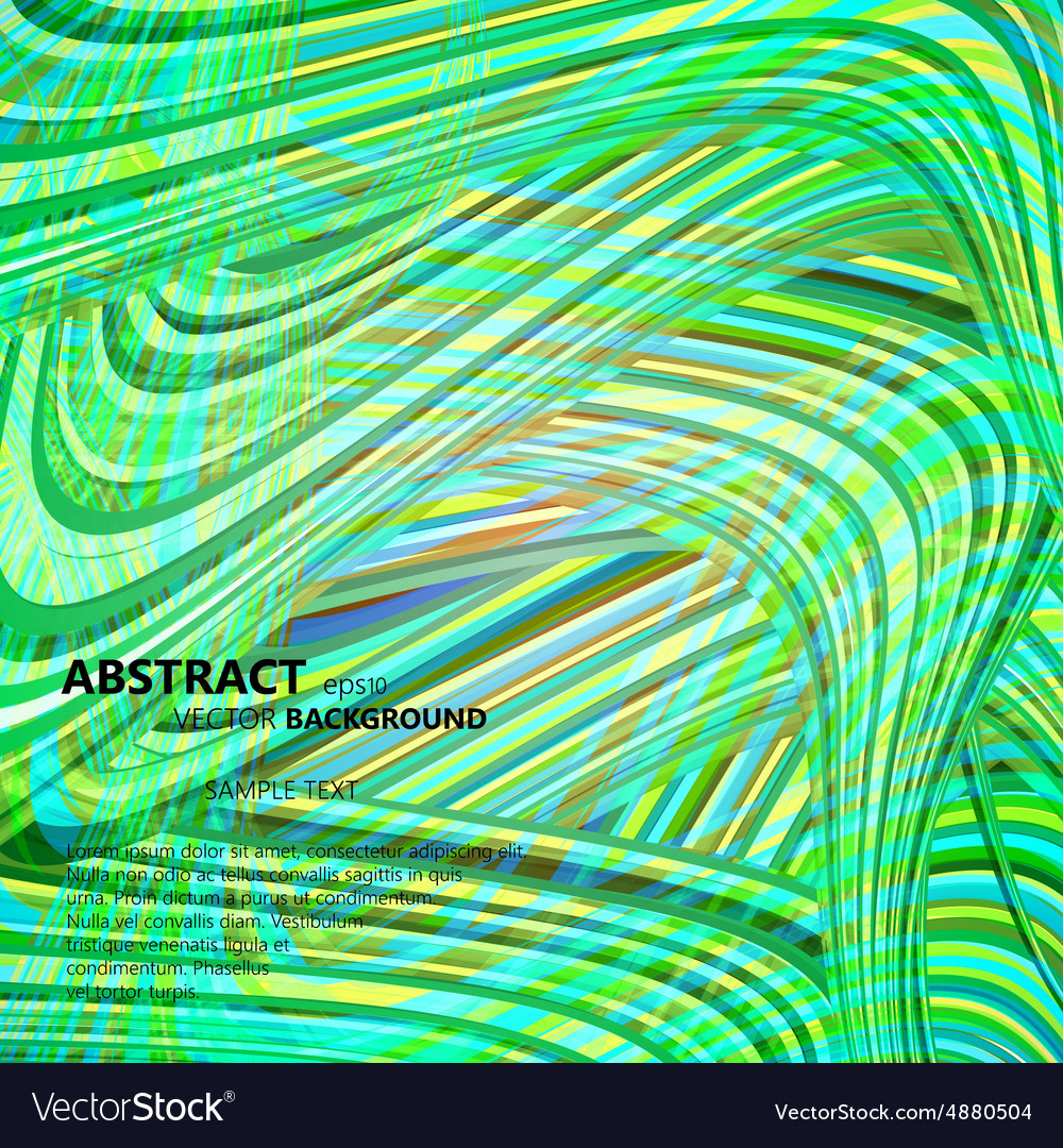 Set of abstract color wavy backgrounds vector image