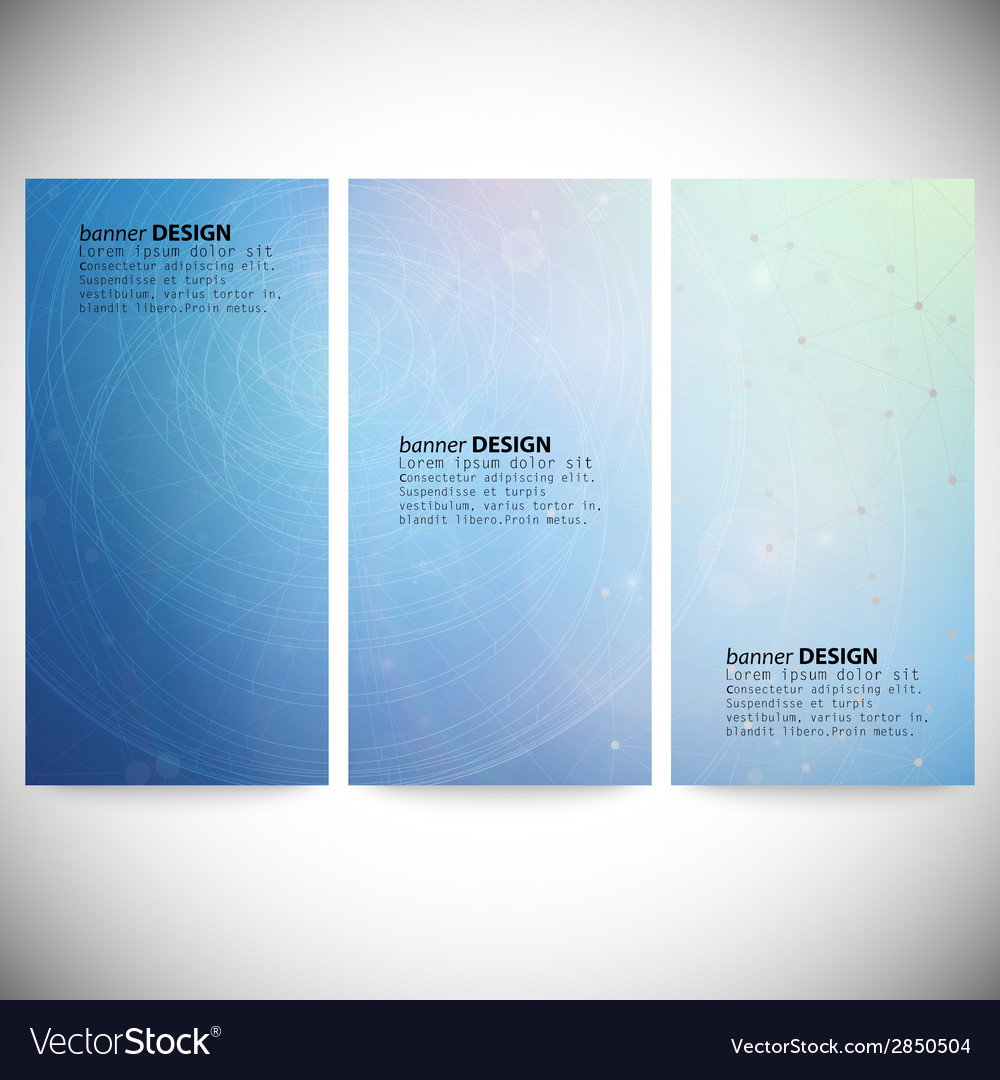 Set Of Vertical Banners Conceptual Design Template