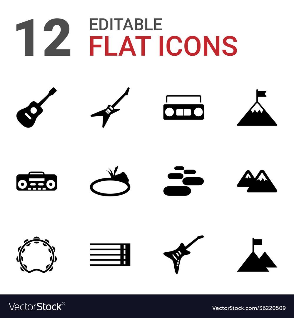12 rock icons
