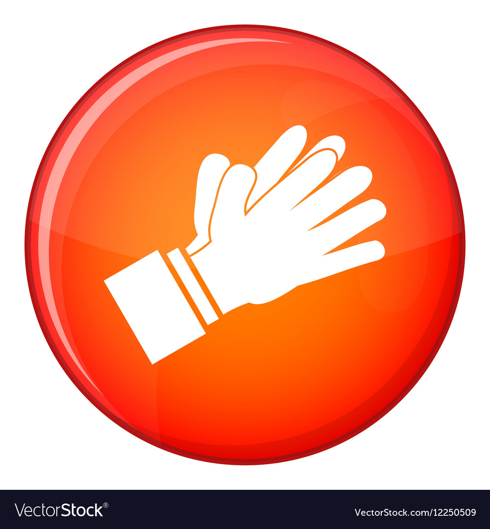 Clapping applauding hands icon flat style