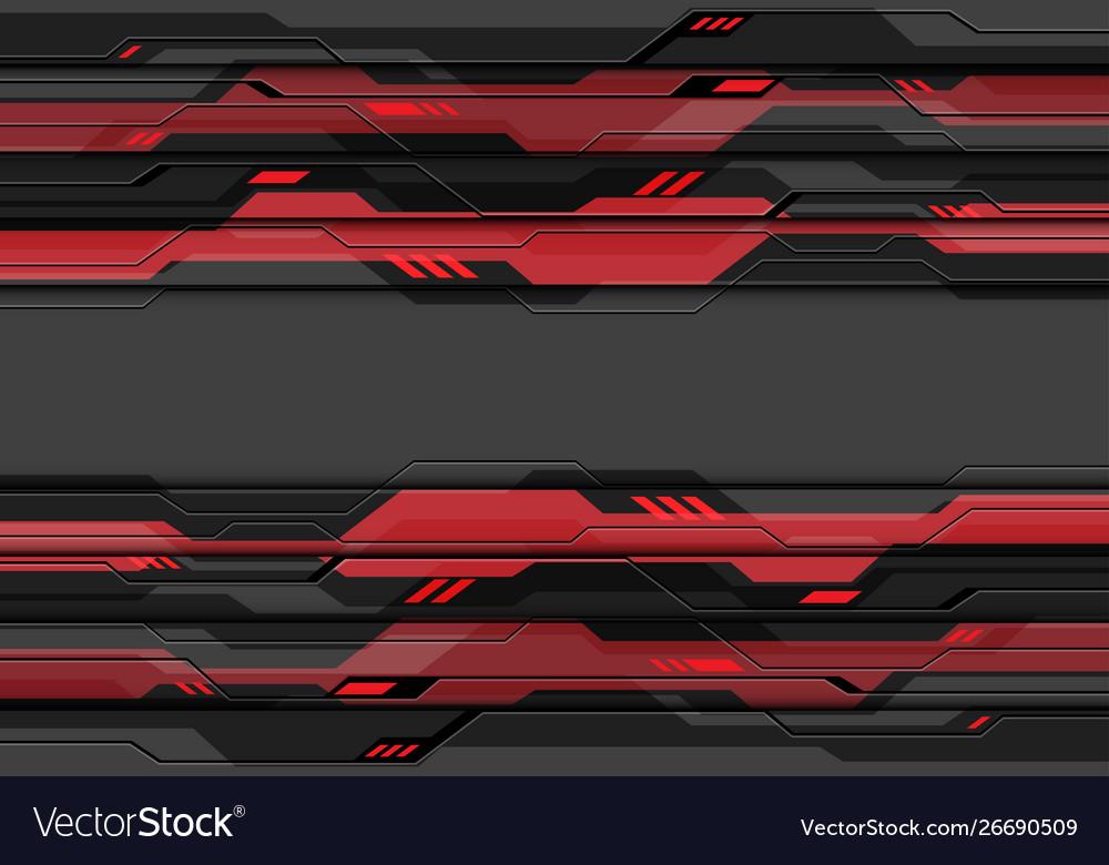 Dark grey metallic cyber circuit red technology