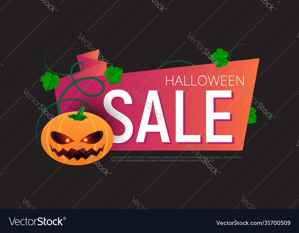 Happy halloween sale banner or sticker design