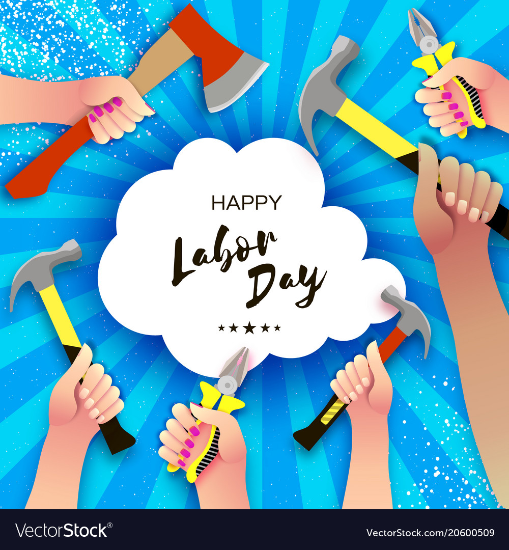 Happy labor day greetings card for national vector image m4hsunfo