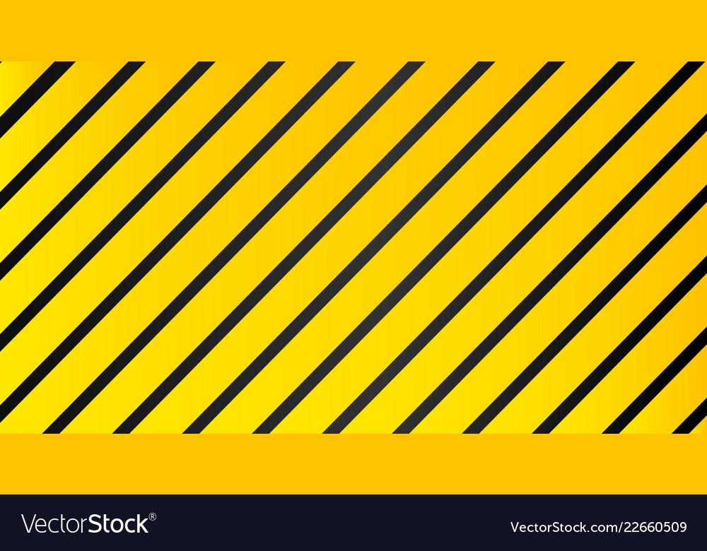 Industrial striped warning yellow black pattern