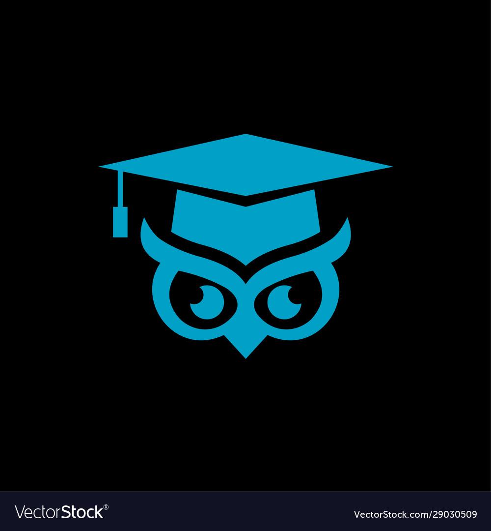 Logo a bachelor hat and owl eye