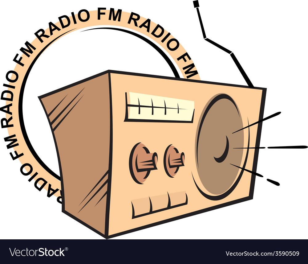 Retro radio fm logo