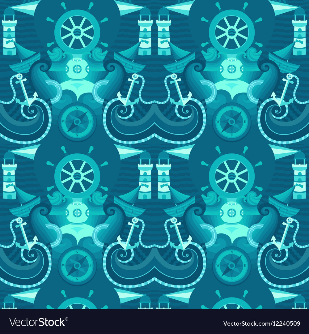 Seamless pattern sea