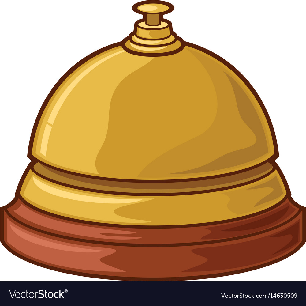 Service or hotel bell vector image