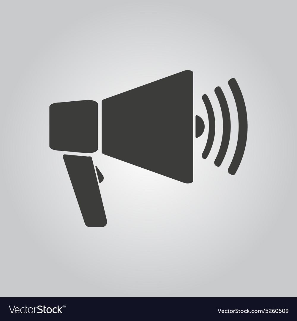 The megaphone icon Bullhorn symbol Flat Royalty Free Vector