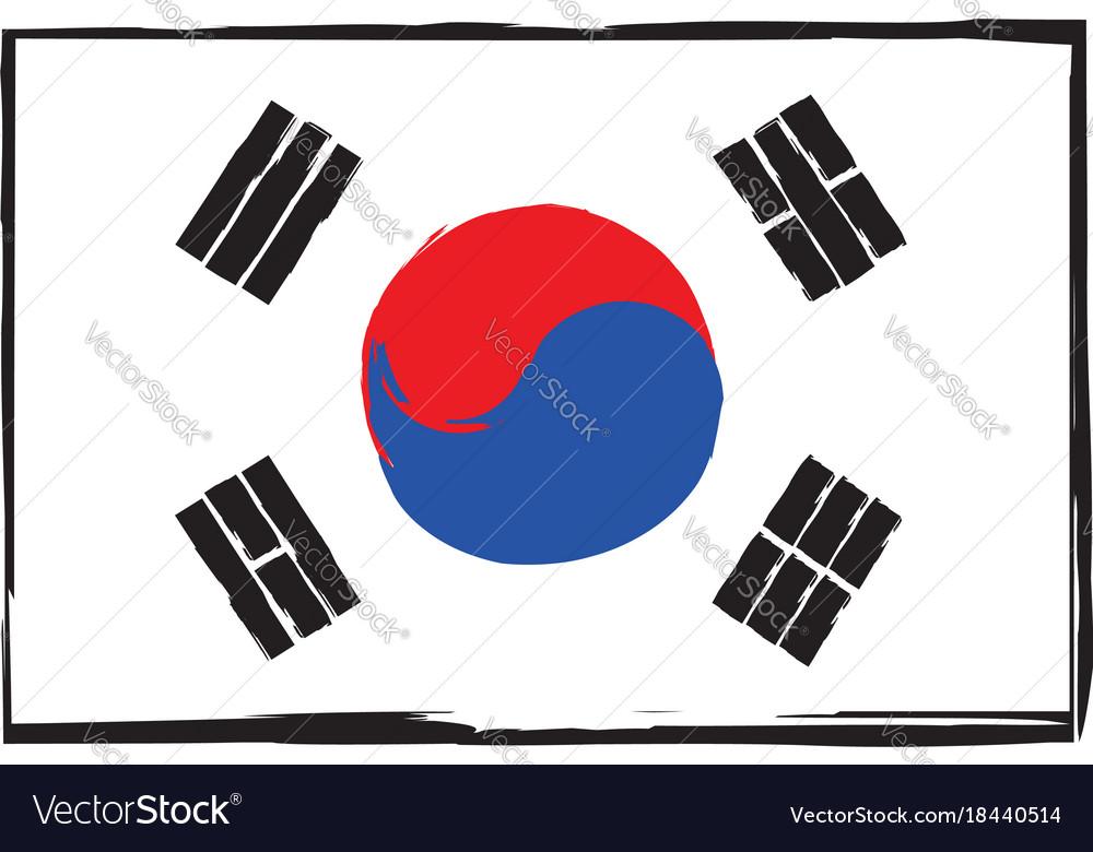 Abstract south korea flag or banner