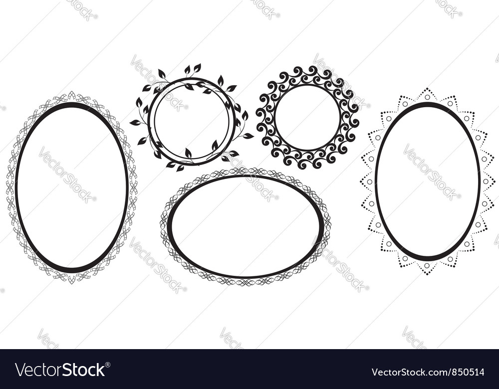 Black frames with tracery vector image