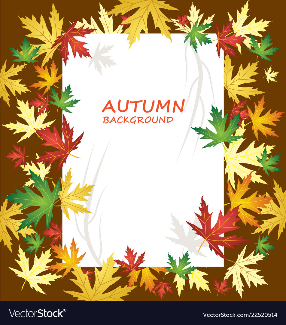 Blank paper on autumn background