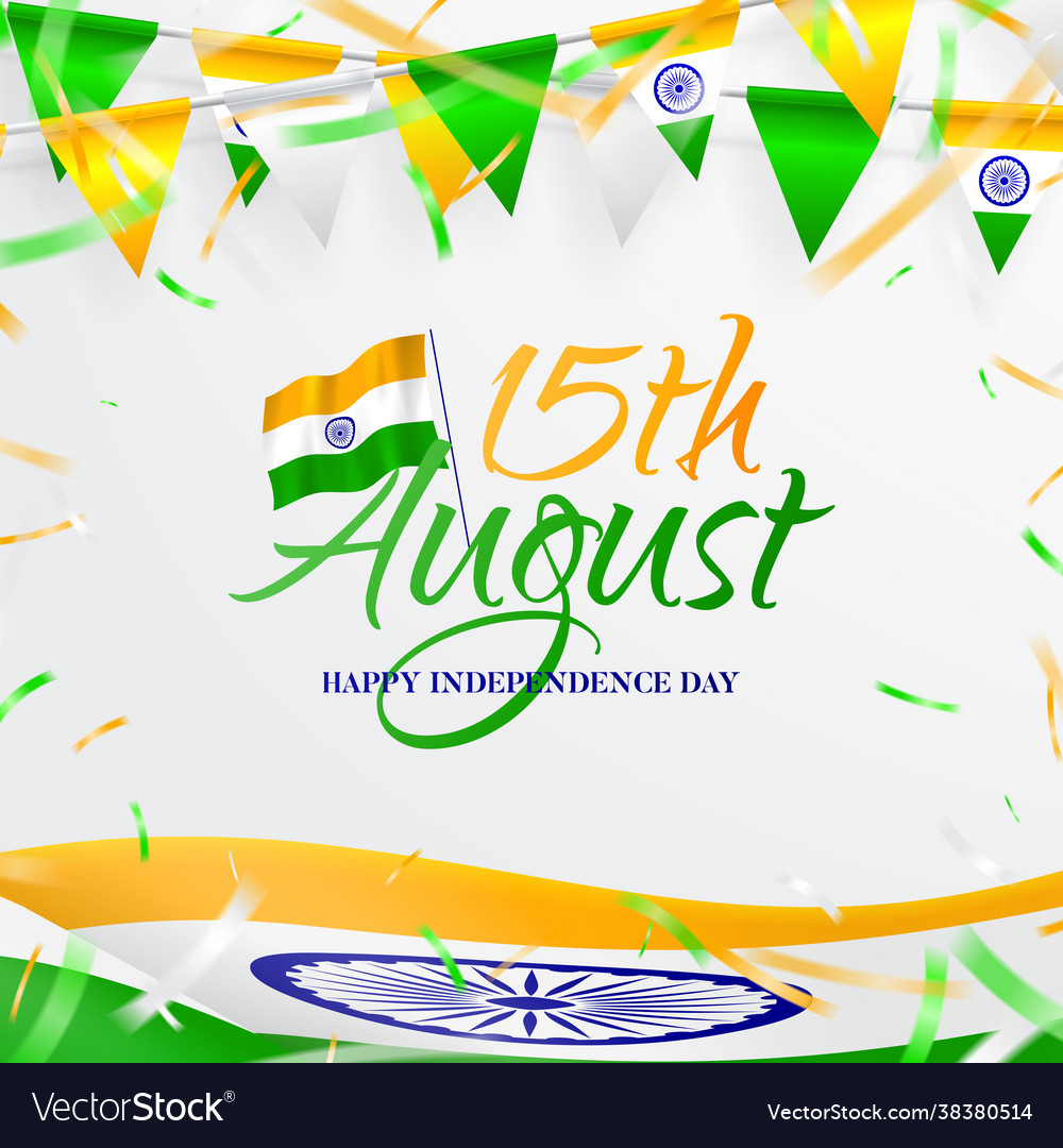 Card happy independence day in india
