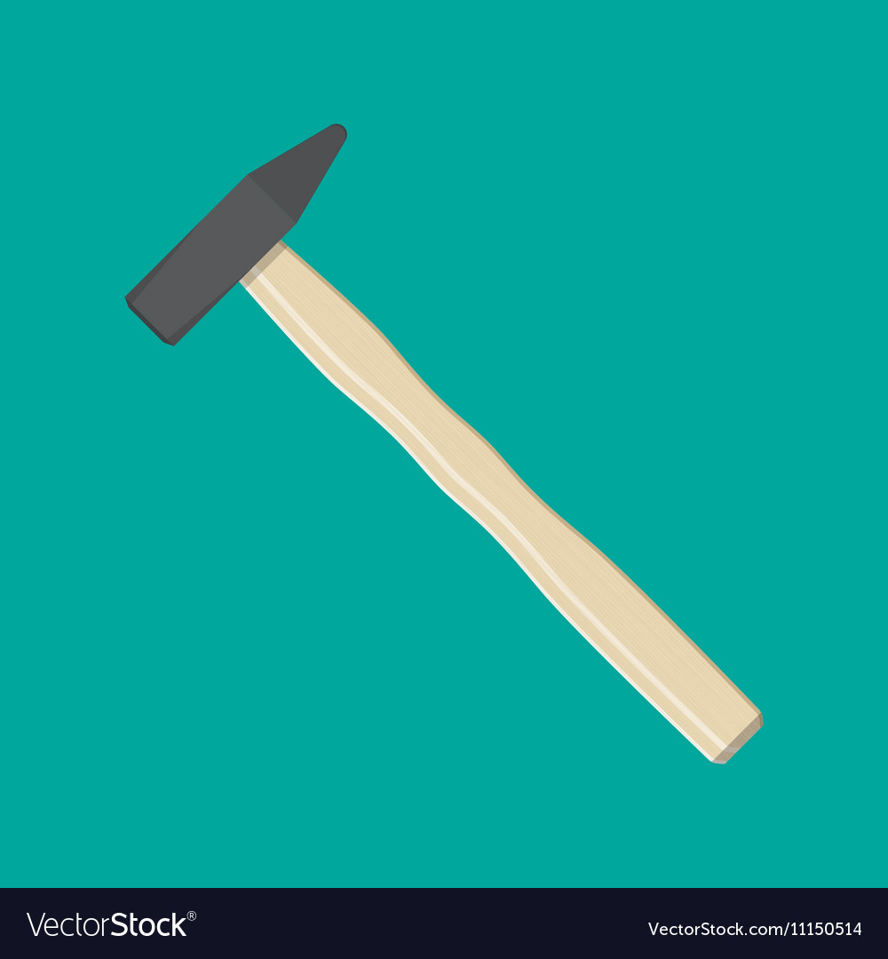 Carpenter hammer tool vector image