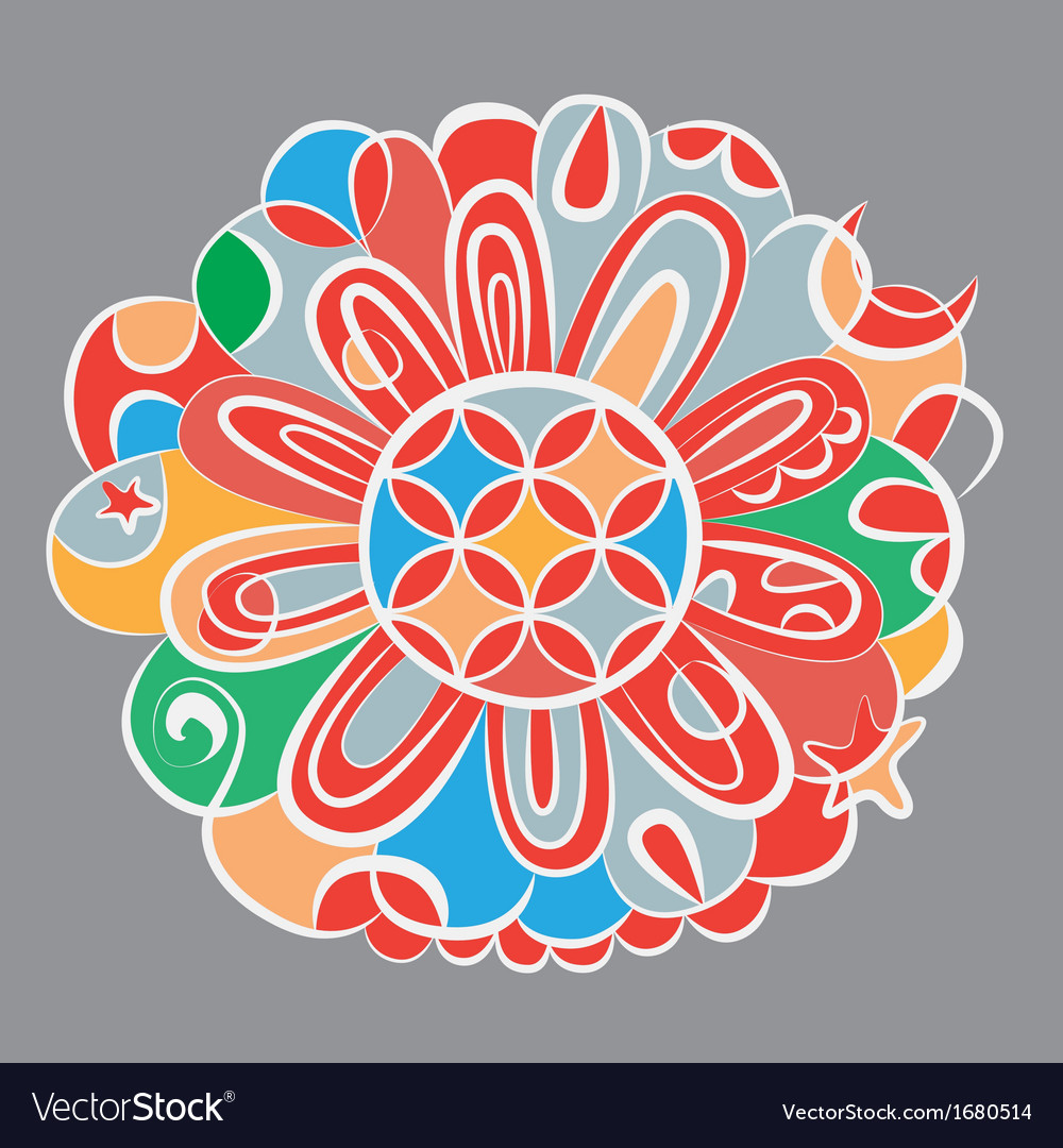 fantasy color mandala royalty free vector image