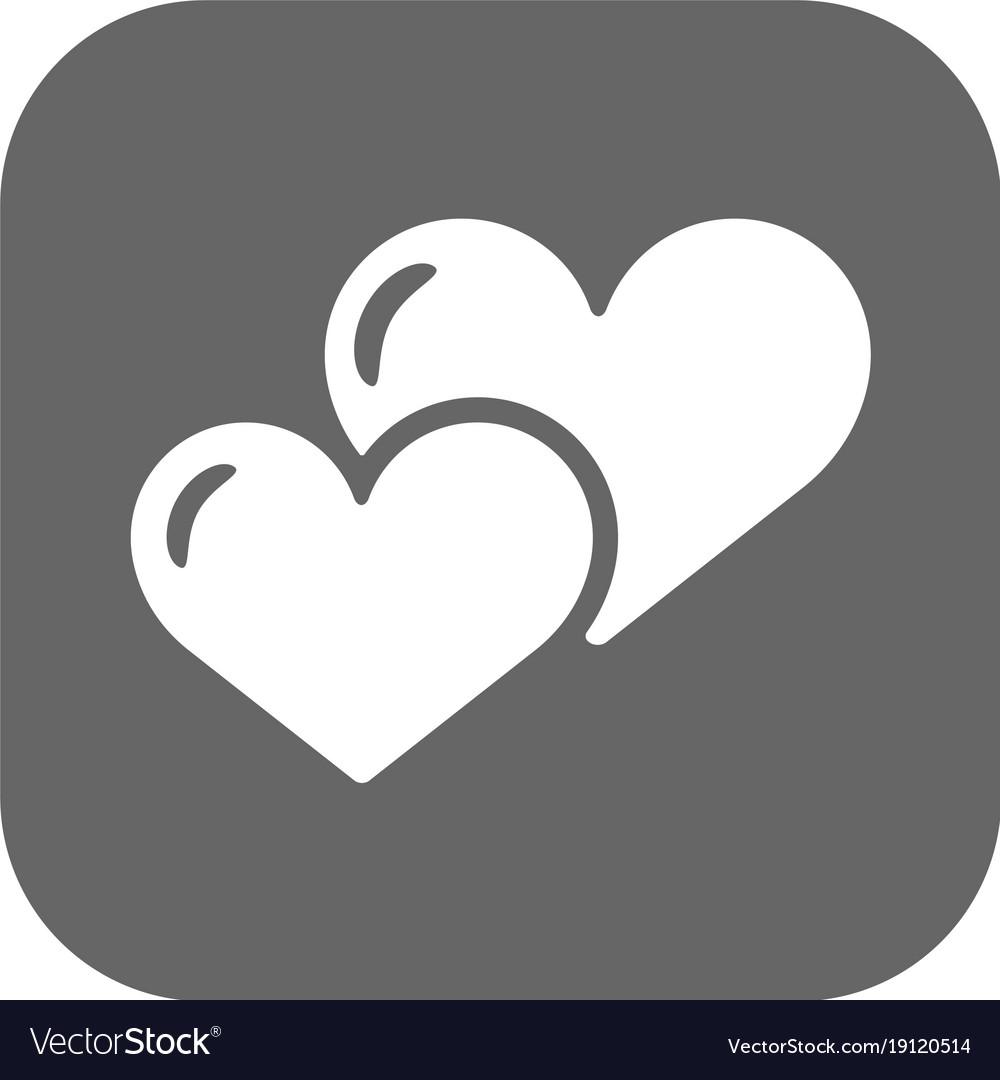 Heart icon flat design best icon