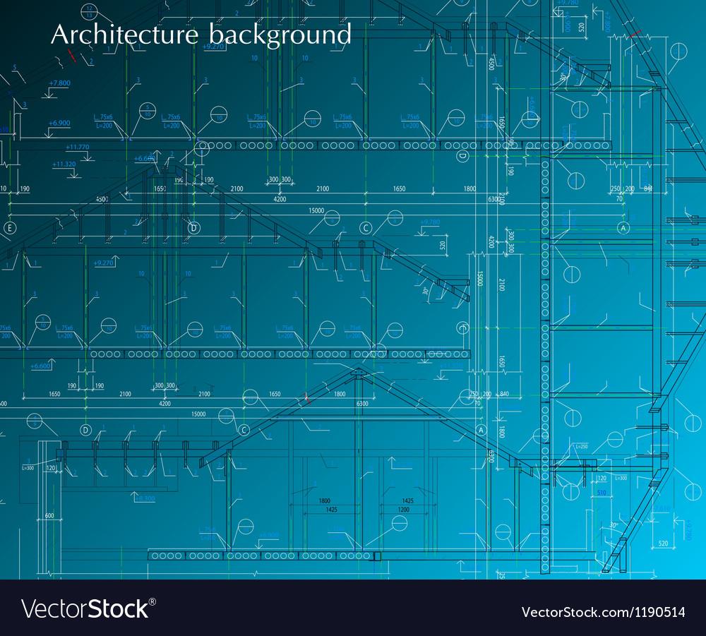 House facade on blue background blueprint vector image malvernweather Images