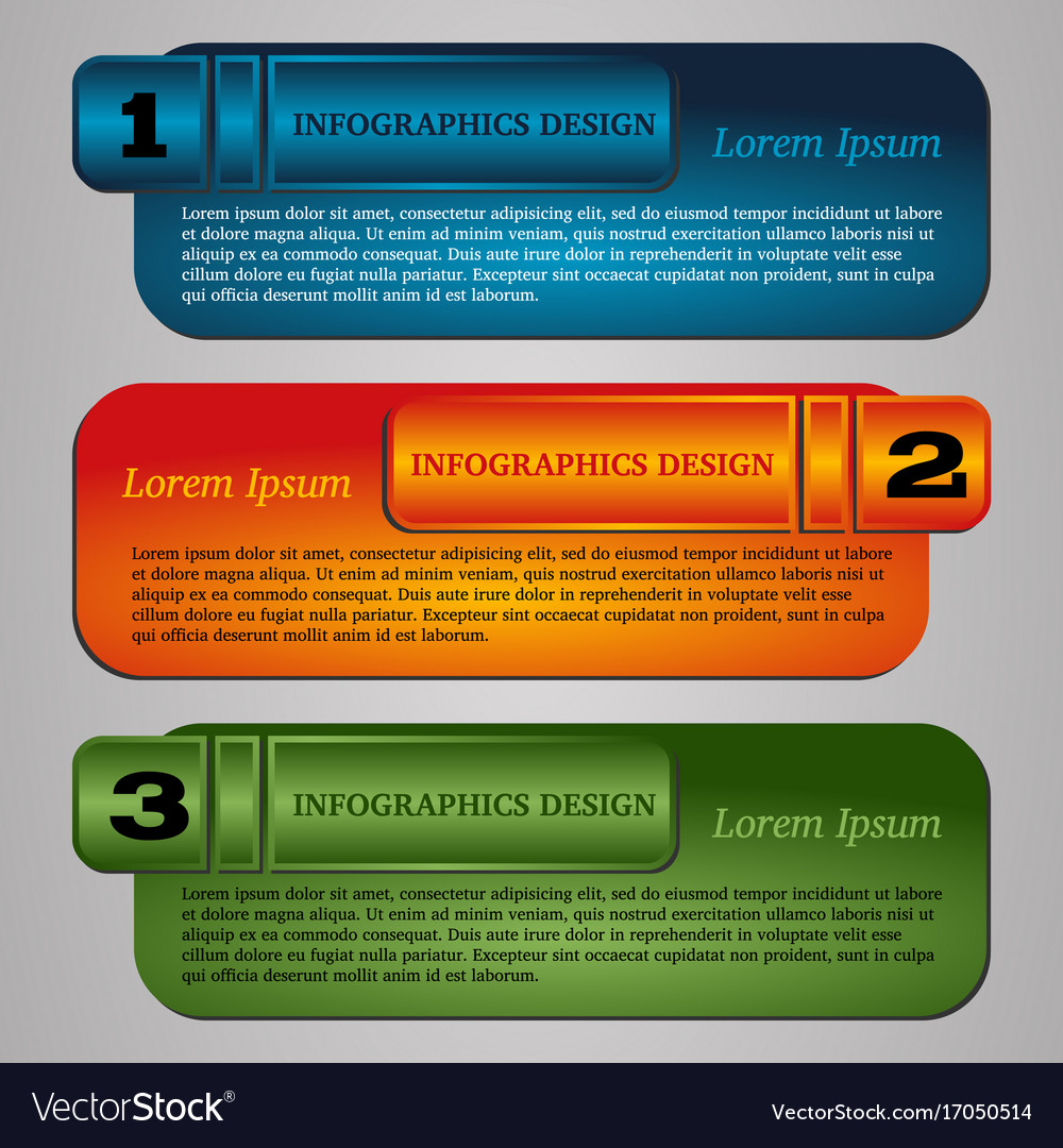 Infographic template with step