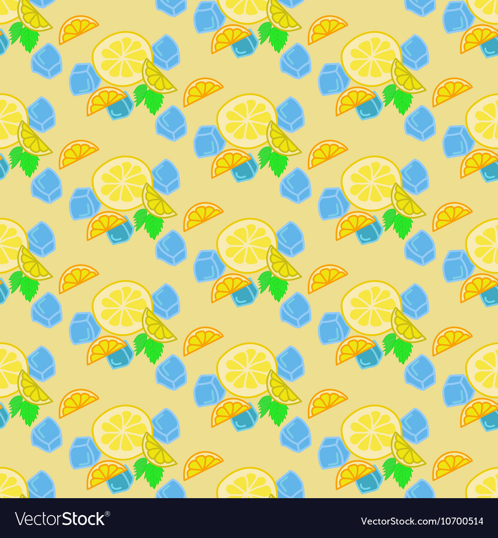 Lemonade summer background vector image