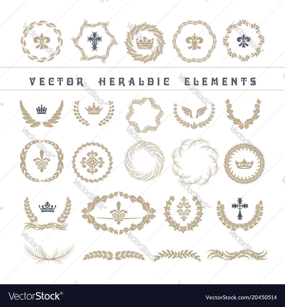 Set laurel wreath - symbol of victory and
