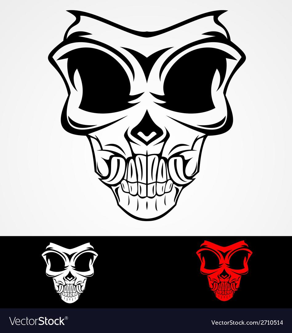 Skull Mask Tribal vector image