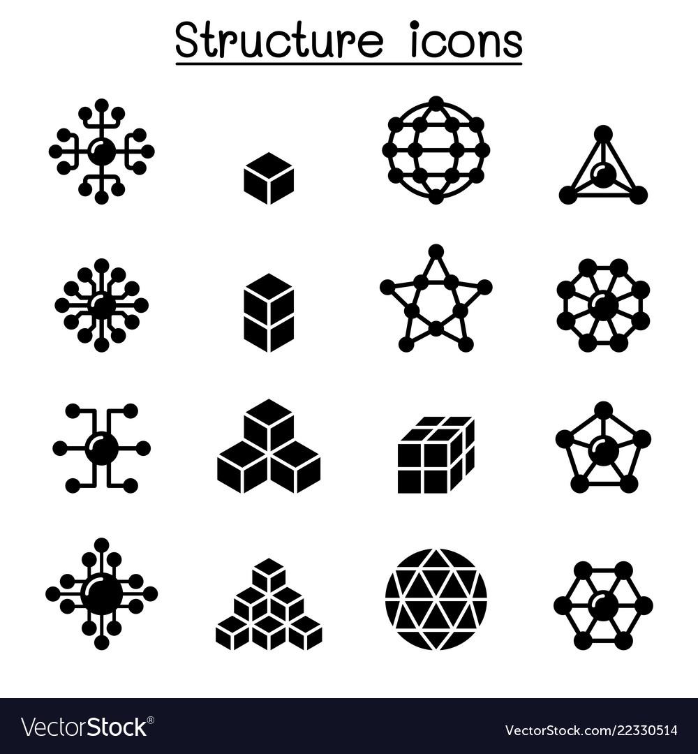 Structure icon set