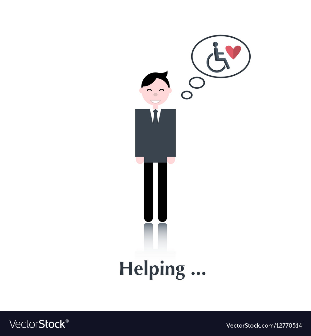 Volunteer man icon vector image