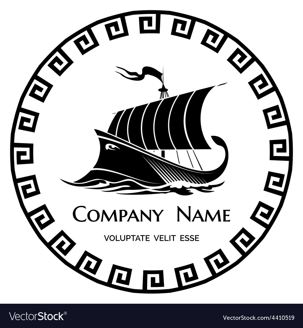 Ancient Greek Galley logo icon