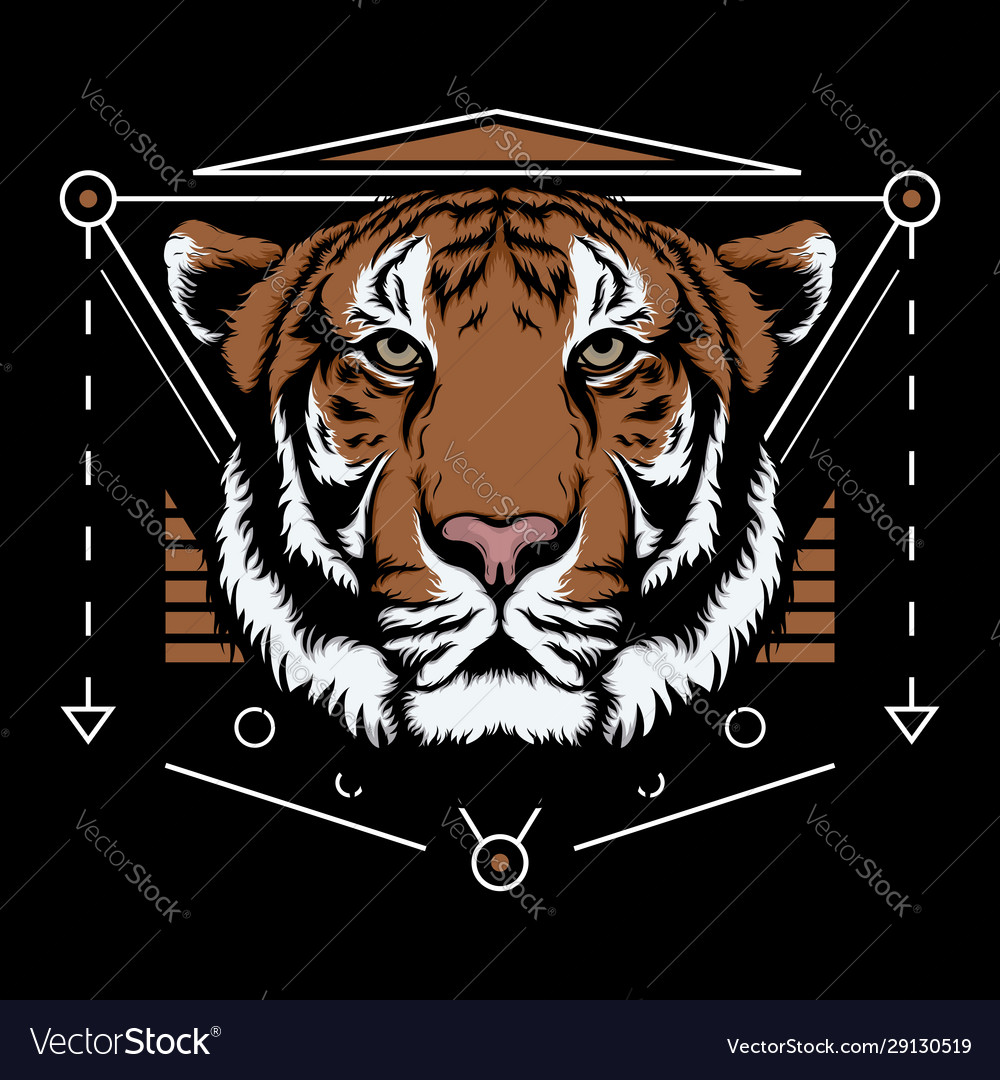 Bengal tiger scared geometry design