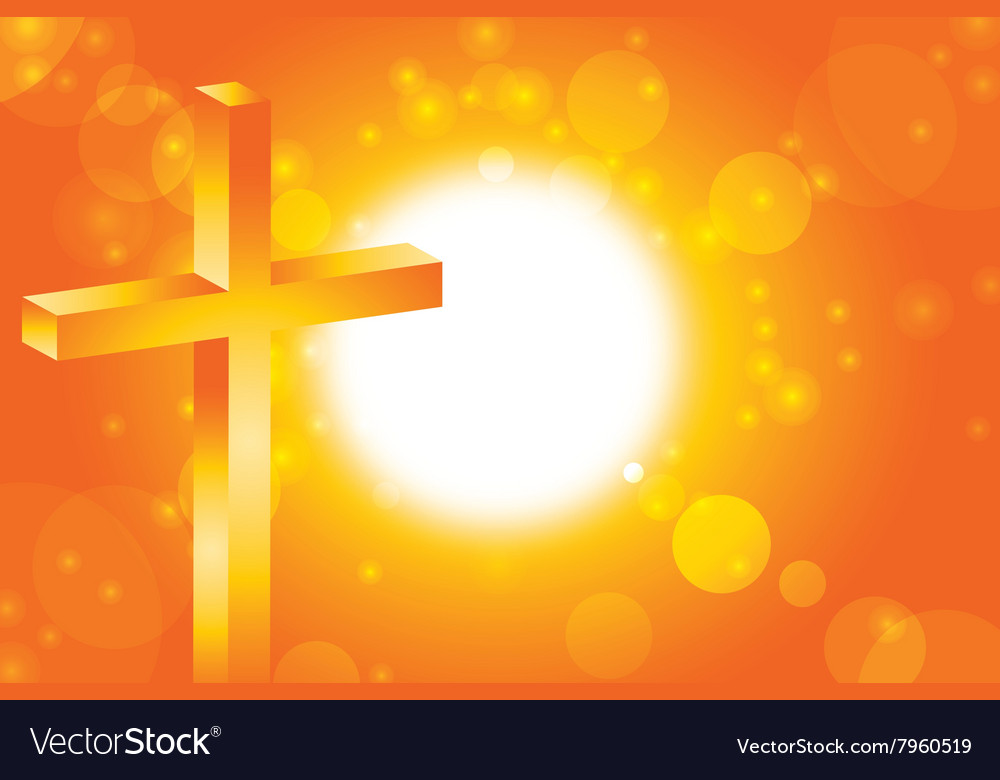 Easter Jesus Cross Background 3 Royalty Free Vector Image