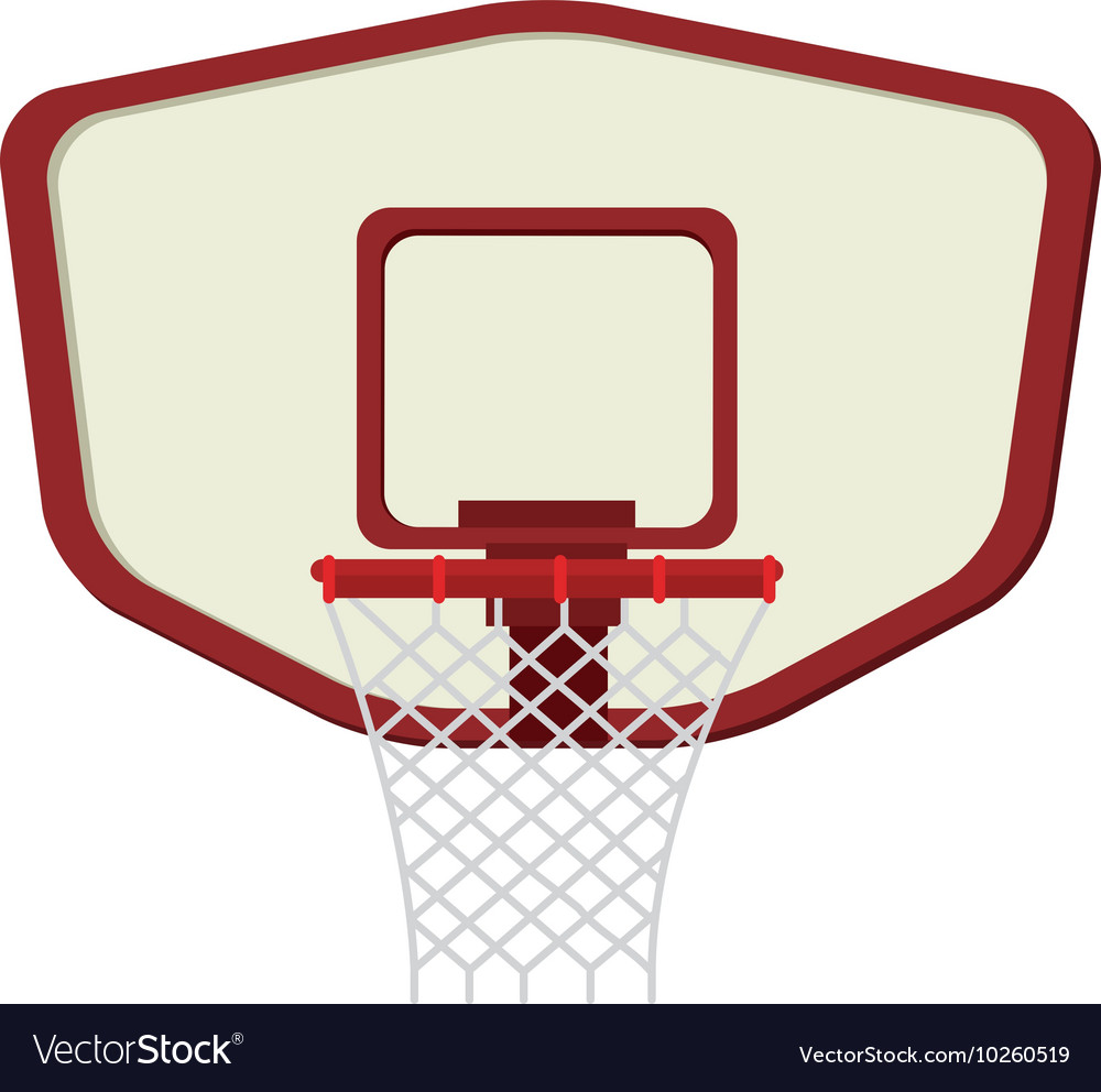 Hoop net basketball vector image