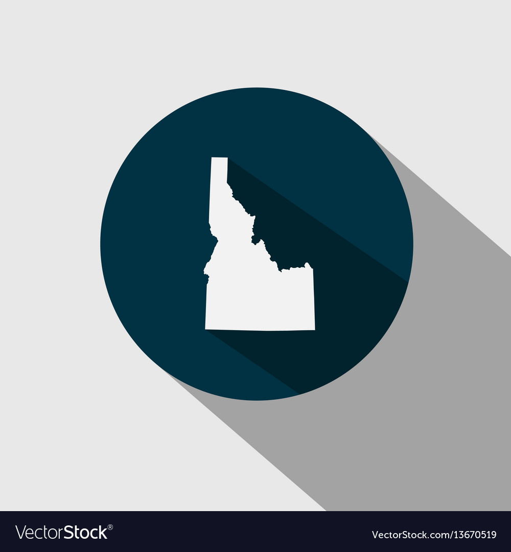 Map of the us state idaho