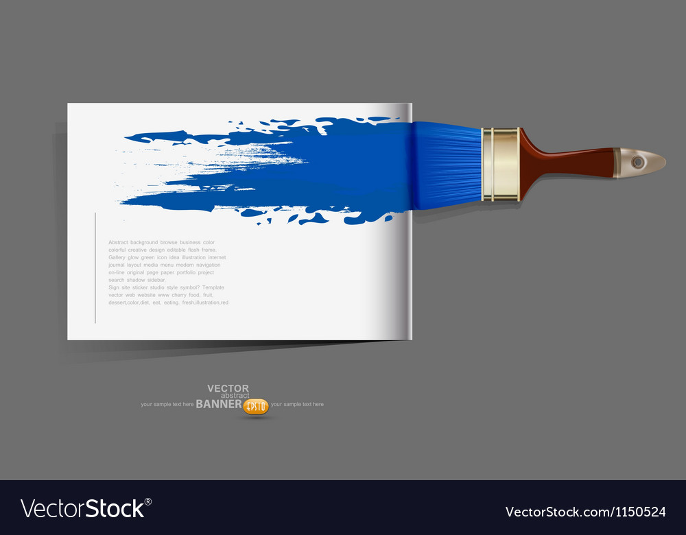 Background brochure with a brush