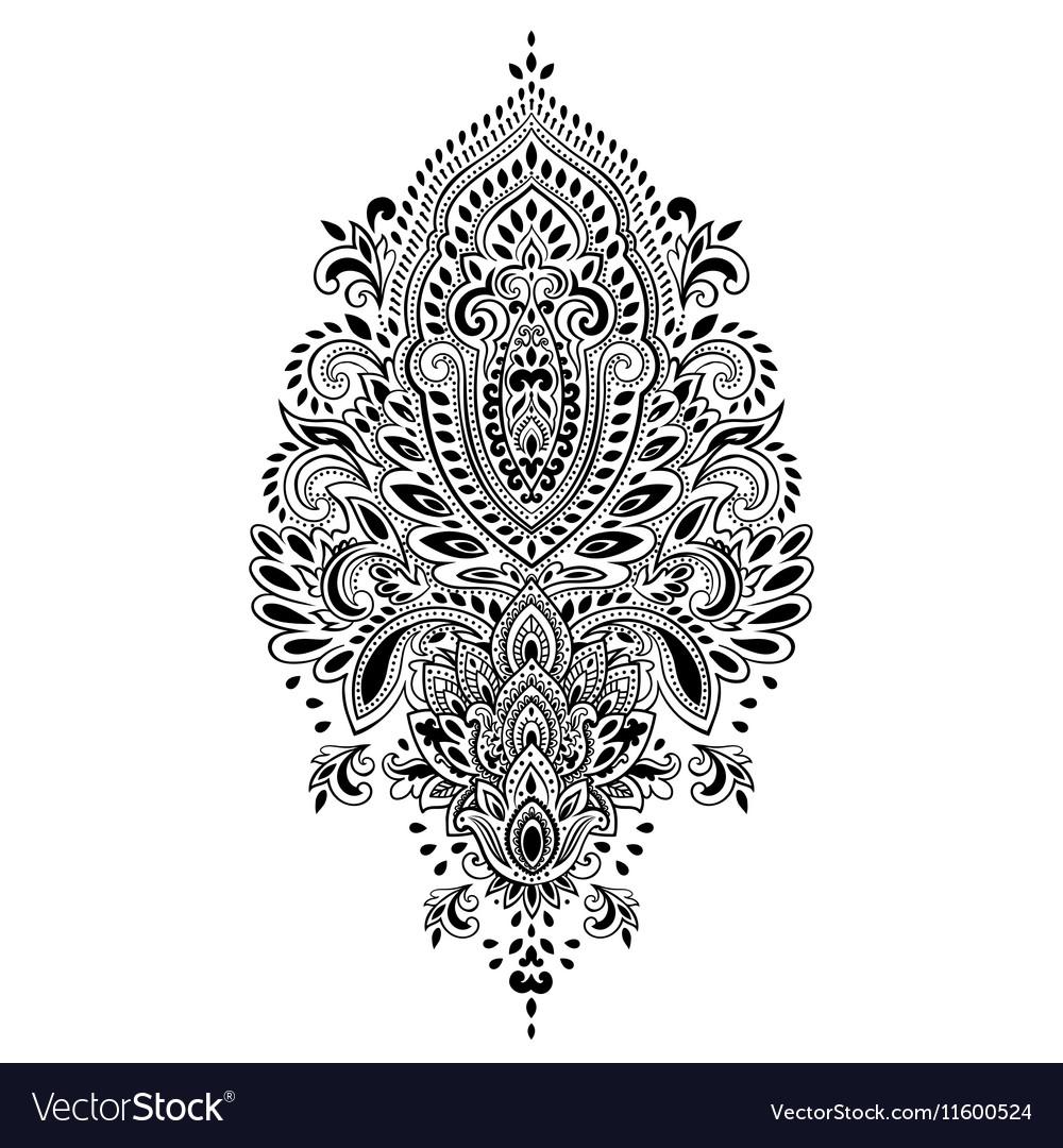bohemian indian mandala towel print vintage henna vector image rh vectorstock com hanna victoria hallman henna vector pattern