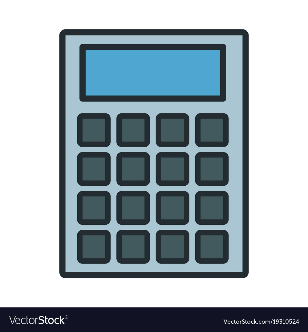 Calculator math device Royalty Free Vector Image