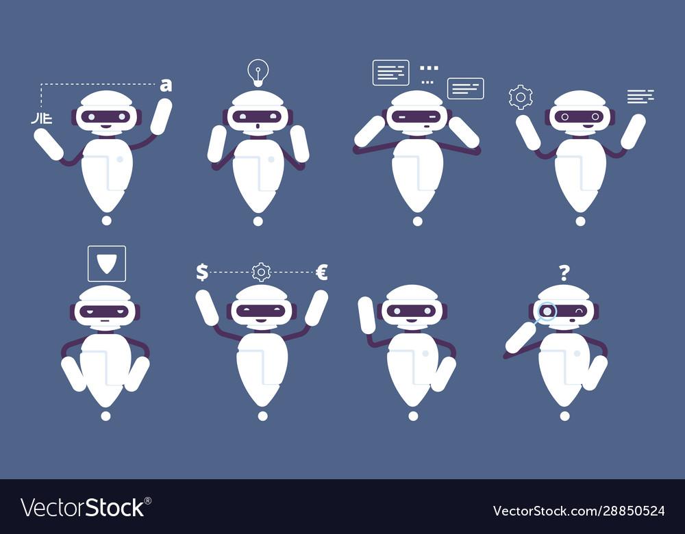 Chatbot robot online mascot cute character