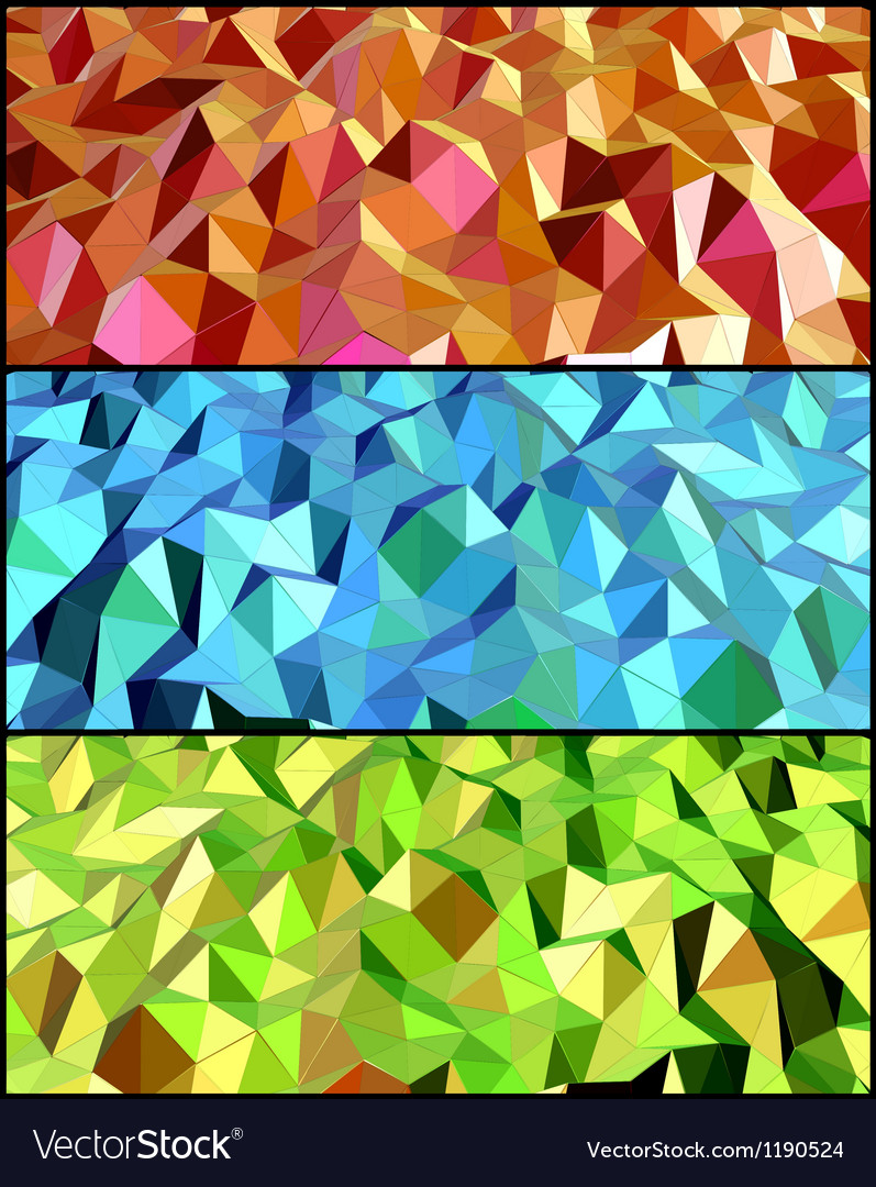 Collection of Abstract backgrounds with triangle