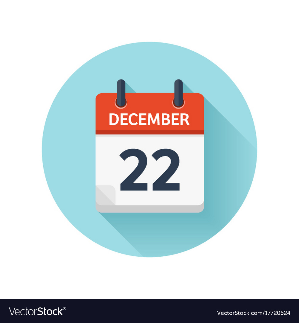 f16b57b2b35787 December 22 flat daily calendar icon date Vector Image