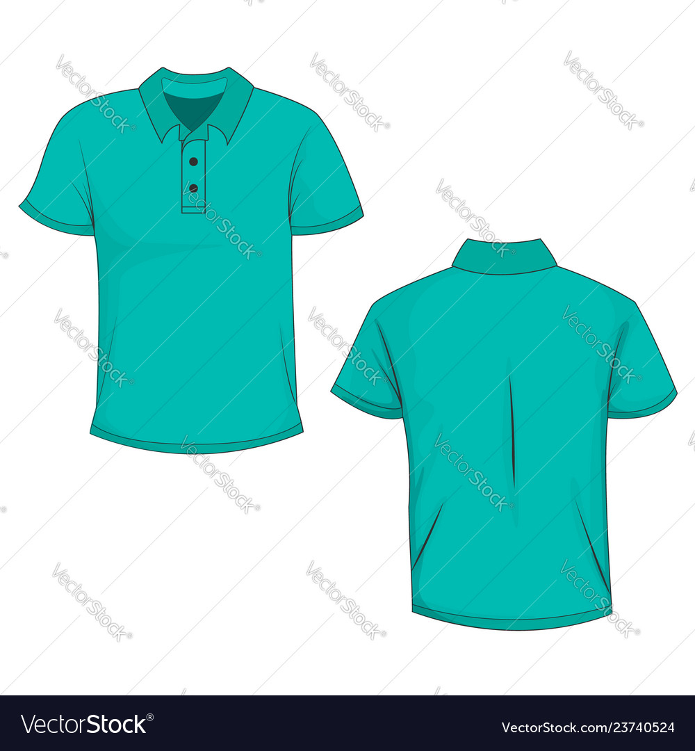 teal shirt front and back
