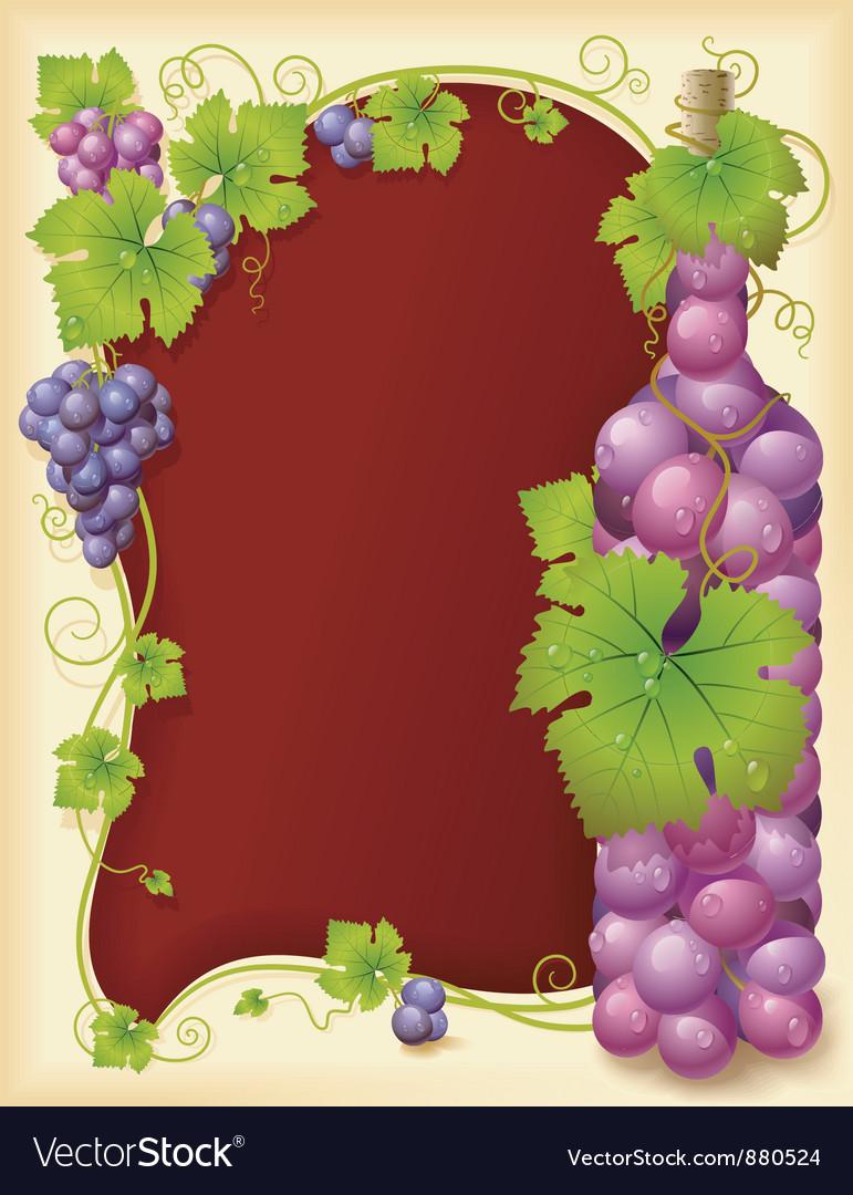 Grape frame vector image
