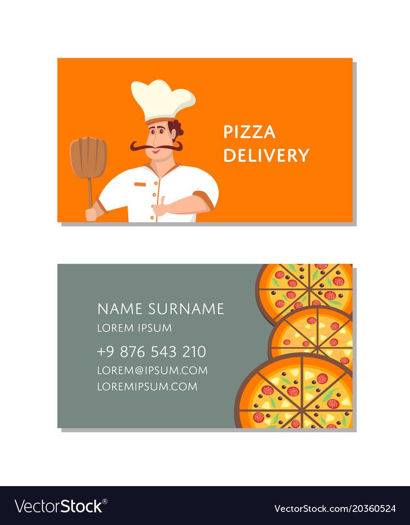 Italian pizzeria business card template royalty free vector italian pizzeria business card template vector image colourmoves