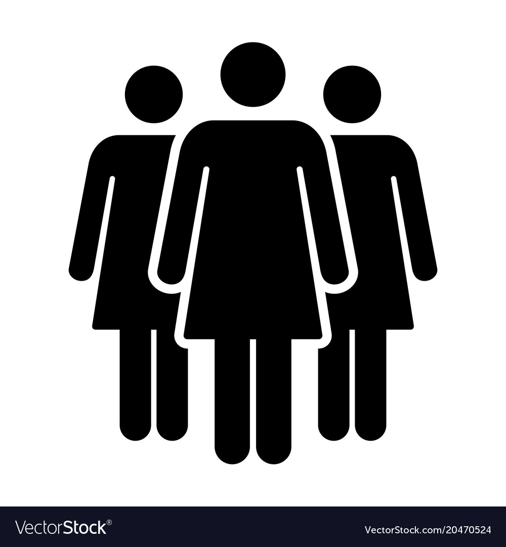 Crowd Of Indian Women Vector Avatars Stock Vector: People Icon Group Of Women Team Symbol For Vector Image
