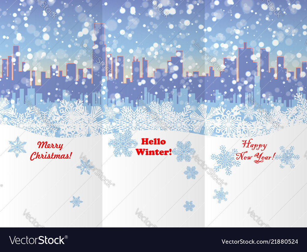Winter new year and christmas booklet design