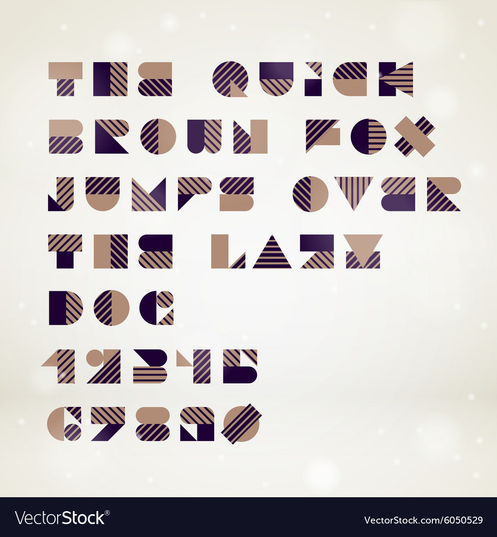Abstract geometric font
