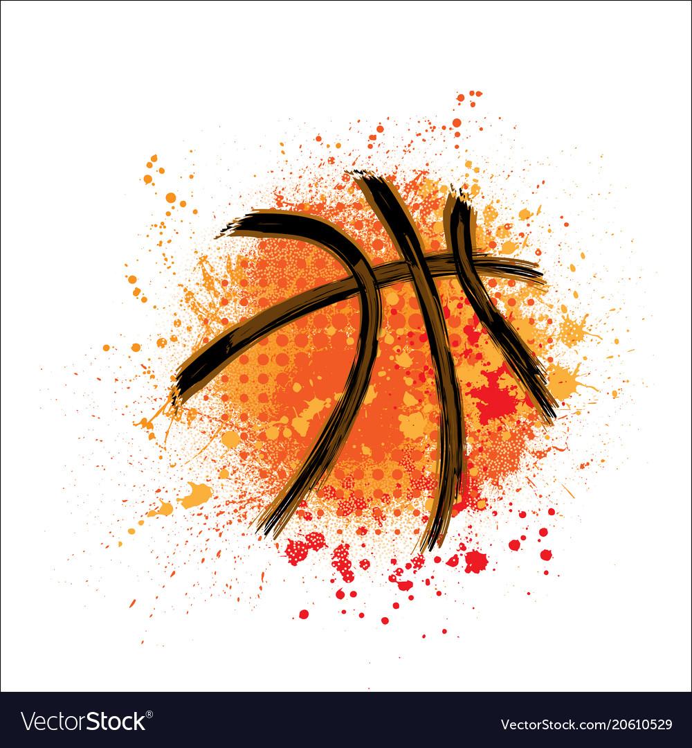 Basketball orange grunge background